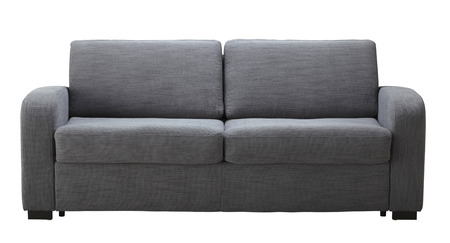 Grey sofa isolated on white