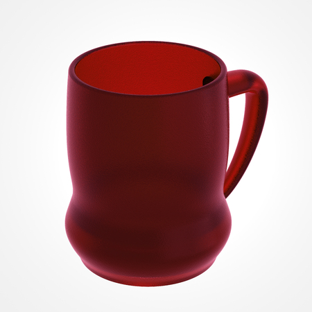 Beer mug isolated on white. Include clipping path. 3D illustration Stock Photo