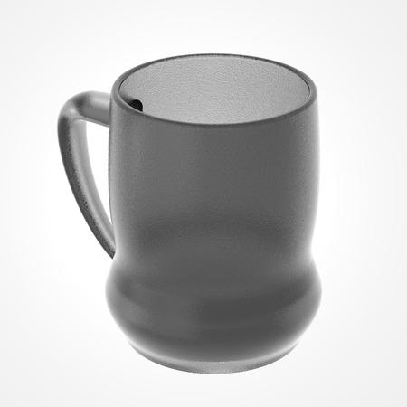 Glas mok geïsoleerd op wit. Inclusief clipping path. 3D illustratie