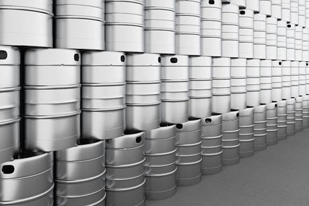 aluminum: Beer kegs. 3d render