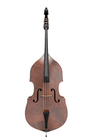 cellos: Contrabass. Isolated on white background. Include clipping path. 3d illustration