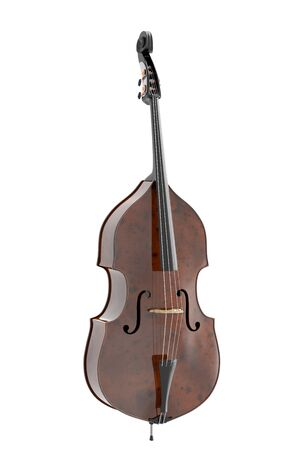 contrabass: Contrabass. Isolated on white background. Include clipping path. 3d illustration
