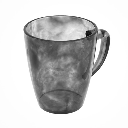 glas 3d: Tea mug isolated on white. Include clipping path. 3D illustration