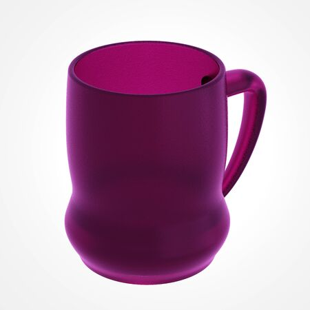 glas 3d: Glass beer mug isolated on white. Include clipping path. 3D illustration