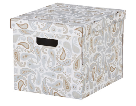 storage box: Carton box isolated on white. Include clipping path.
