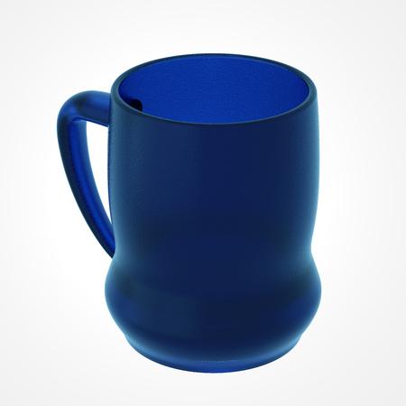 Biermok geïsoleerd op wit. Inclusief clipping path. 3D illustratie Stockfoto