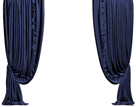 yale: Yale curtain. Isolated on white background include clipping path. 3D illustration