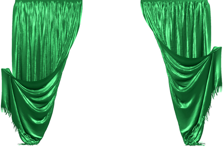 Atlas curtain. Isolated on white background. Include clipping path. 3D illustration