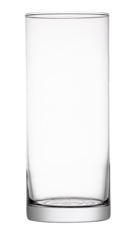 Empty glass vase  isolated on white background with clipping path.