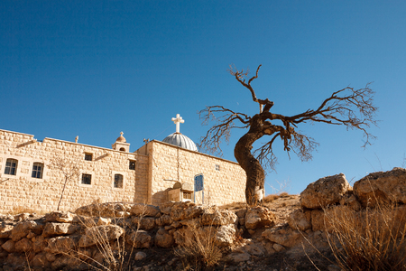 christian festival: Christian Aramaic village of Maalula, Syria Stock Photo