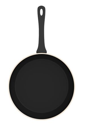 Frying pan isolated. Include clipping path. 3D illustration. Stock Photo