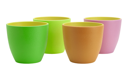 Flower pots isolated on white. Include clipping path