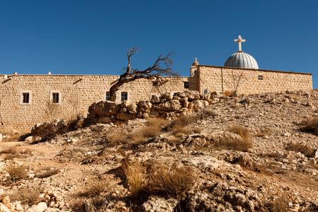 monastic: Christian Aramaic village of Maalula, Syria Stock Photo