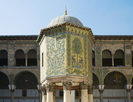 The Dome of the Treasury. Umayyad Mosque in Damascus