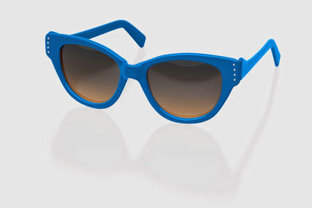 eyewear: Party sunglasses isolated on white background. With clipping path. 3D render