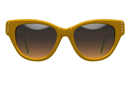 eyewear fashion: Party sunglasses isolated on white background. With clipping path. 3D render