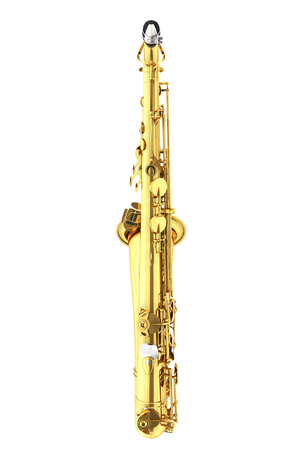 Tenor saxophone. Isolated on white background. Include clipping path. 3d render Stock Photo