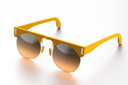 Orange sunglasses isolated on white background. With clipping path