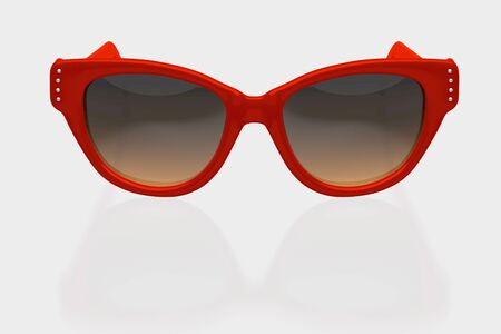 Women sunglasses isolated on white background. With clipping path. 3D render