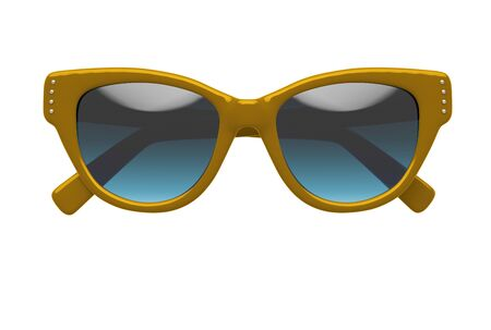 Party sunglasses isolated on white background. With clipping path. 3D render