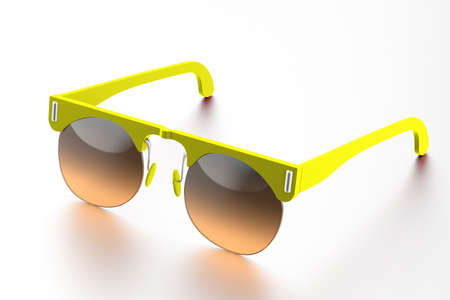 Lime sunglasses isolated on white background. With clipping path Stock Photo