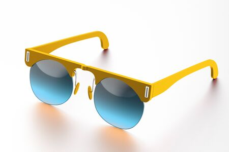 sunglasses isolated on white background. With clipping path
