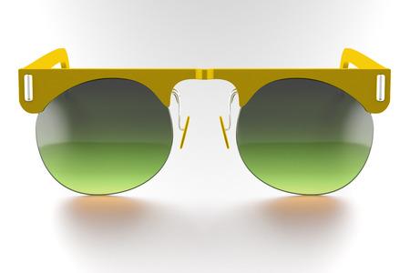 78909283 - Gafas de sol amarillas aisladas sobre fondo blanco. Con trazado  de recorte. Render 3D 0a06d17b6d1c
