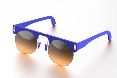 Blue sunglasses isolated on white background. With clipping path