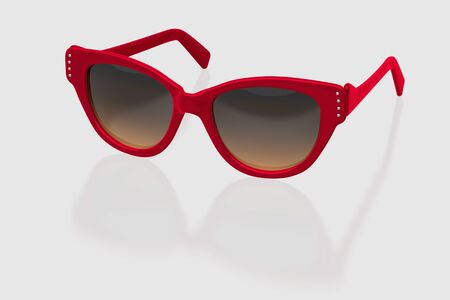eyewear: Woman sunglasses isolated on white background. With clipping path. 3D render