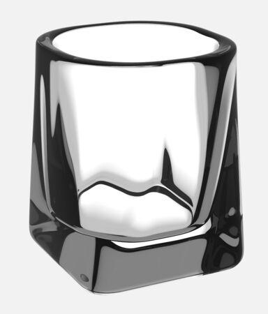 bourbon whisky: Empty glass of whiskey Stock Photo