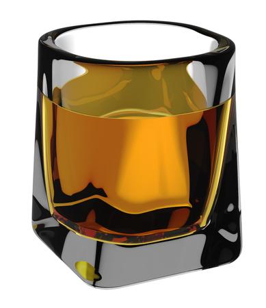 bourbon: Glass of scotch whiskey