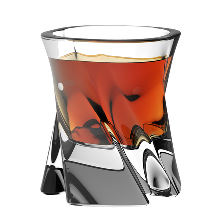 Glass of scotch. Studio shot.