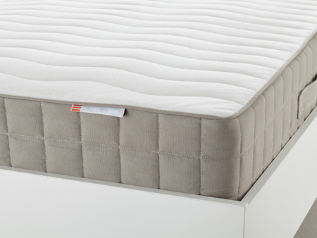 White mattress closeup