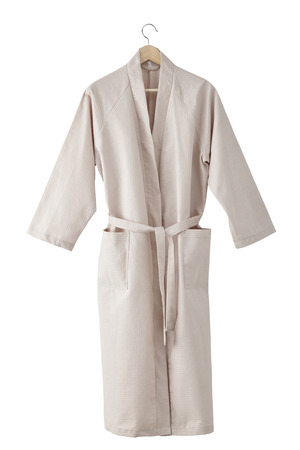 Bathrobe isolated on white background. Include clipping path
