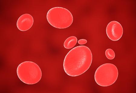 Red blood cells. 3d render