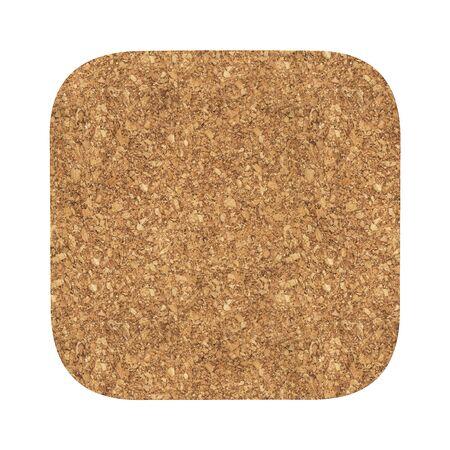 Vierkante kurkachtbaan. Geïsoleerd op witte achtergrond Inclusief uitknippad. 3d render