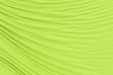 Yellow fabric folds. 3d render