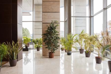 De lobby van het appartementsgebouw Stockfoto
