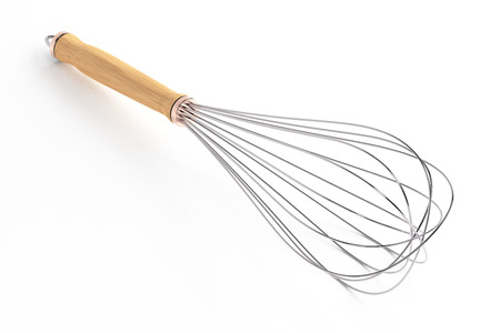 Wire whisk isolated on white background. Include clipping path. 3d render