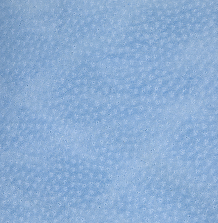 leatherette: Cyan leather texture. Square, close up