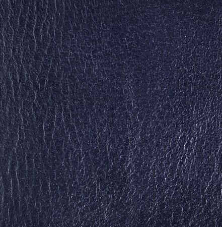 leatherette: Blue leather texture. Square, close up Stock Photo