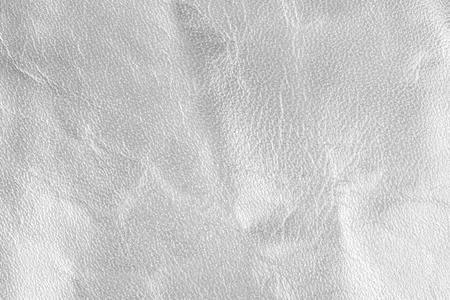 leatherette: White live leather texture. Horizontal, close up
