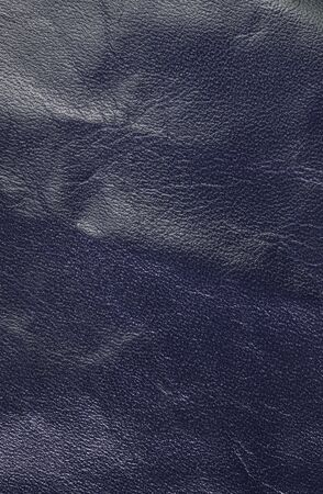 leatherette: Blue leather texture.  Vertical, close up Stock Photo