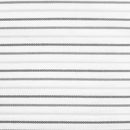 White fabric texture with light and dark stripes pattern. Closeup Stock Photo