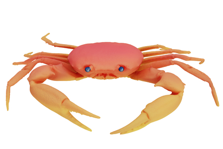 Crab isolated on white. Include clipping path. 3d render