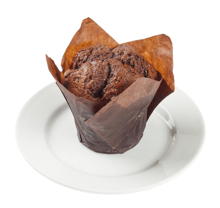 Muffin isolated on white background. Include clipping path. Stock Photo
