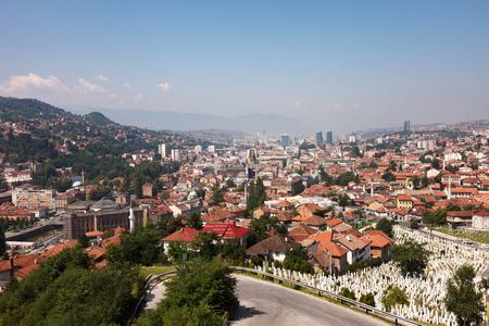 Landscape view of Sarajevo, Bosnia and Herzegovina Stock Photo