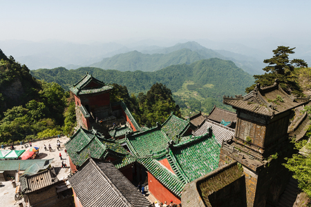 The roofs of monasteries of Wudang Mountains 版權商用圖片