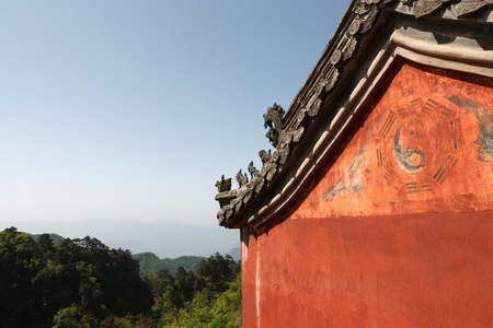 The pagoda building in  monastery of Wudang Mountains