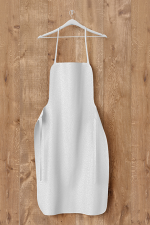 White apron, cooking cloth uniform mockup. 3d rendering 版權商用圖片